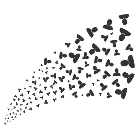 he is beautiful: User source stream. Vector illustration style is flat gray iconic symbols on a white background. Object stream fountain created from randomized icons. Illustration