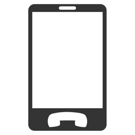 touchpad: Mobile Phone vector icon. Flat gray symbol. Pictogram is isolated on a white background. Designed for web and software interfaces. Illustration