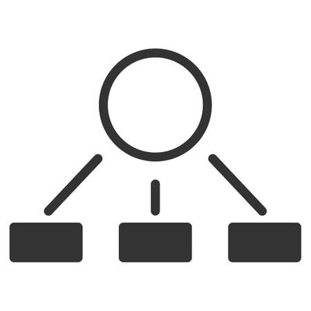 Hierarchy vector icon. Flat gray symbol. Pictogram is isolated on a white background. Designed for web and software interfaces. Illusztráció