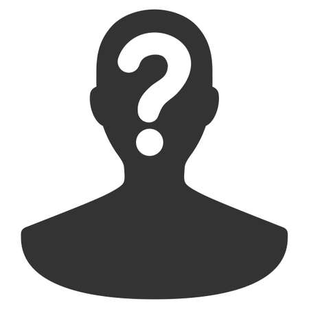 Unknown Person vector icon. Flat gray symbol. Pictogram is isolated on a white background. Designed for web and software interfaces. Vektoros illusztráció