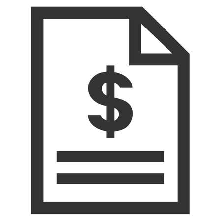 convention: Invoice Page vector icon. Flat gray symbol. Pictogram is isolated on a white background. Designed for web and software interfaces.