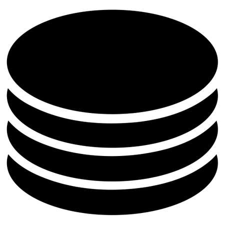 Coin Stack raster icon. Flat black symbol. Pictogram is isolated on a white background. Designed for web and software interfaces.