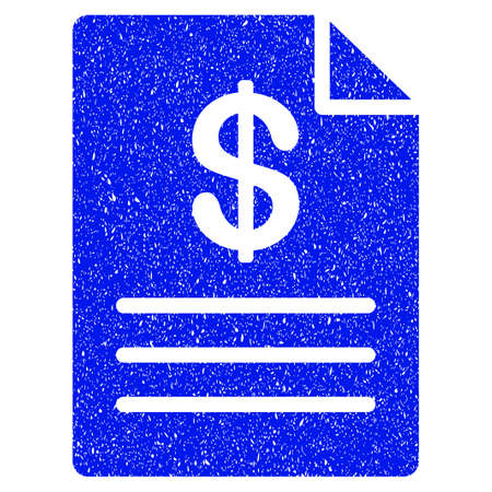 Grunge Price List icon with grunge design and unclean texture. Unclean vector blue pictogram for rubber seal stamp imitations and watermarks. Draft emblem symbol.