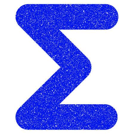 グランジ デザインと傷テクスチャ グランジ合計アイコン。汚れたベクトル青ゴム シール切手の模造品と透かしのピクトグラム。ドラフト標識記号