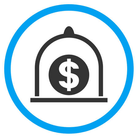 Dollar Standard rounded icon. Raster illustration style is a flat iconic symbol inside a circle, color, transparent background. Designed for web and software interfaces.