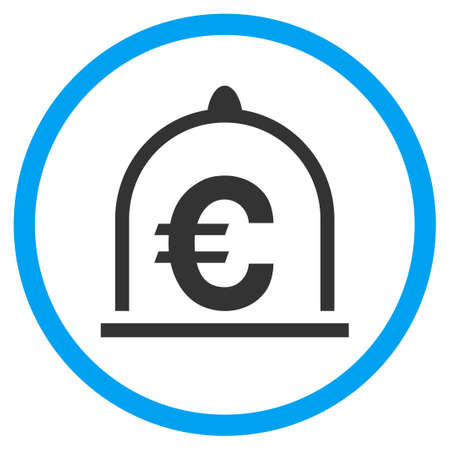 Euro Standard rounded icon. Raster illustration style is a flat iconic symbol inside a circle, color, transparent background. Designed for web and software interfaces.