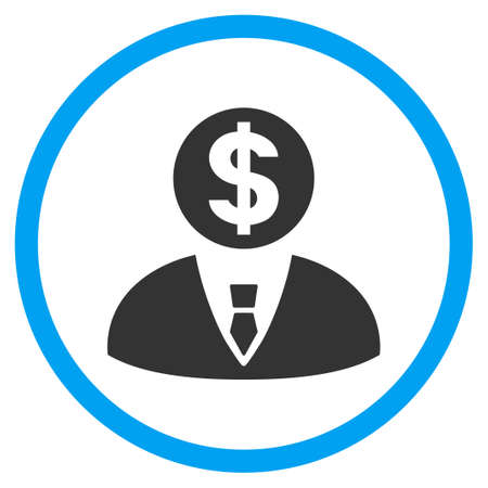 Banker rounded icon. Vector illustration style is a flat iconic symbol inside a circle, color, transparent background. Designed for web and software interfaces.