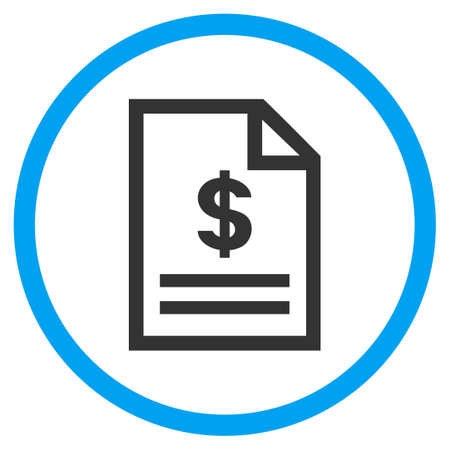 Invoice Page rounded icon. Vector illustration style is a flat iconic symbol inside a circle, color, transparent background. Designed for web and software interfaces. Illustration