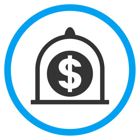 Dollar Standard rounded icon. Vector illustration style is a flat iconic symbol inside a circle, color, transparent background. Designed for web and software interfaces. Illustration