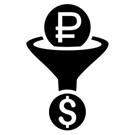 usd: Rouble Currency Conversion raster icon. Style is flat symbol, black color, rounded angles, white background.