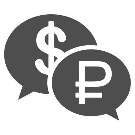 usd: Rouble Dollar Transaction vector icon. Style is flat symbol, gray color, white background. Illustration