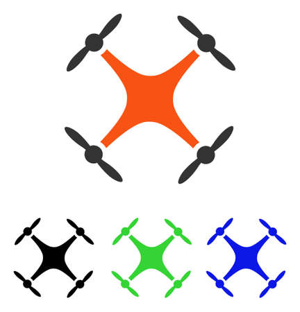 Airdrone vector icon. Illustration style is a flat iconic colored symbol with different color versions. Illustration