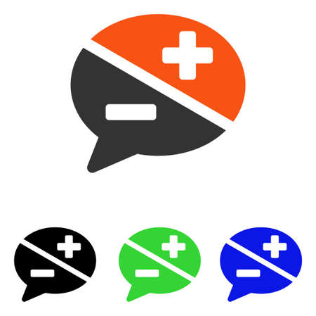 Arguments vector icon. Illustration style is a flat iconic colored symbol with different color versions.