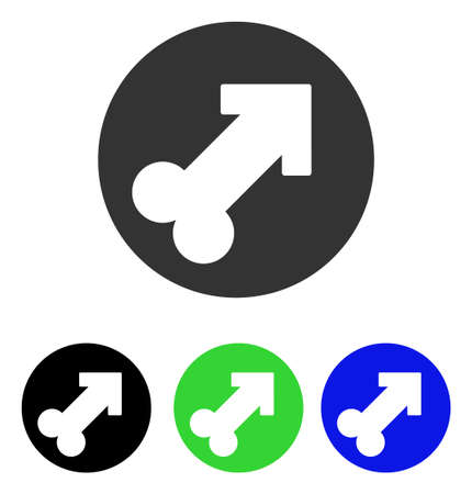 Erection vector icon. Illustration style is a flat iconic colored symbol with different color versions.
