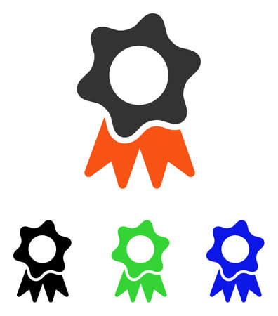 Award Seal vector icon. Illustration style is a flat iconic colored symbol with different color versions.