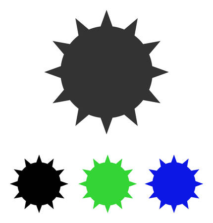 Bacterium vector icon. Illustration style is a flat iconic colored symbol with different color versions.
