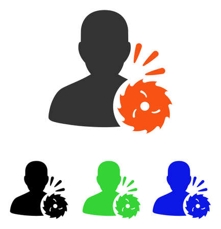 Body Execution vector pictograph. Illustration style is a flat iconic colored symbol with different color versions. 向量圖像