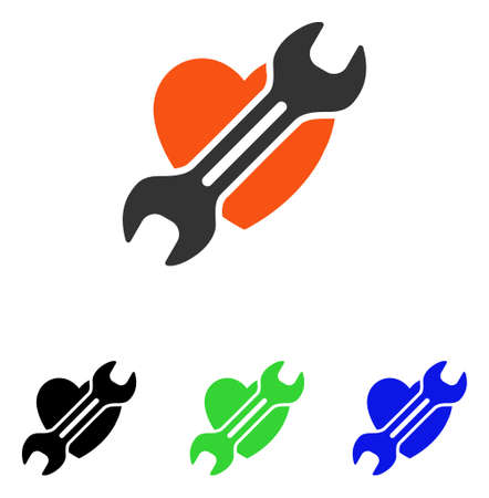 Heart Surgery vector pictogram. Illustration style is a flat iconic colored symbol with different color versions.