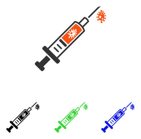 Infection Injection vector pictograph with different color versions. Illustration