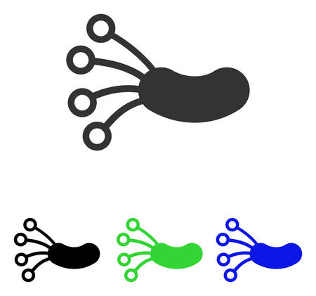 Infection Microbe vector pictograph with different color versions. Illustration