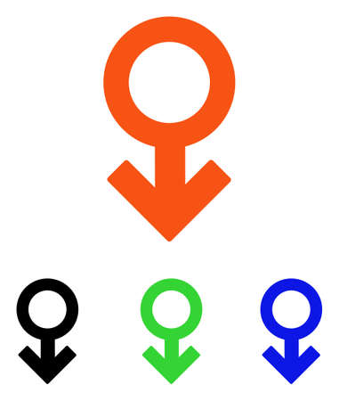 Impotence Symbol vector icon with different color versions. Illustration