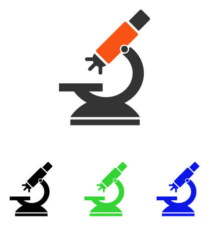 Labs Microscope vector pictograph with different color versions. Illustration