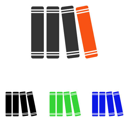 Library Books vector pictograph with different color versions.