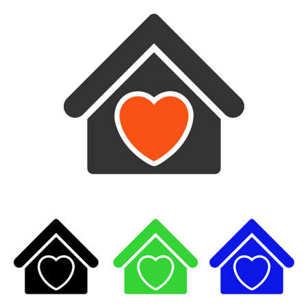 Hospice vector pictogram. Illustration style is a flat iconic colored symbol with different color versions.