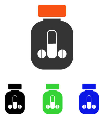erection: Male Medicine vector pictograph. Illustration style is a flat iconic colored symbol with different color versions.