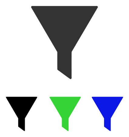 Filter vector pictograph. Illustration style is a flat iconic colored symbol with different color versions. Illustration
