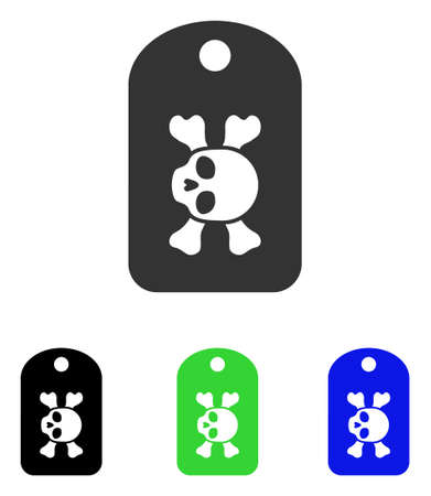 Morgue Mark vector pictograph. Illustration style is a flat iconic colored symbol with different color versions.