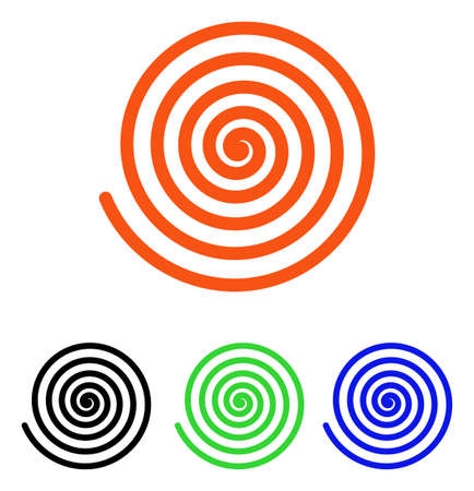 Hypnosis vector pictogram with different color versions. Illustration