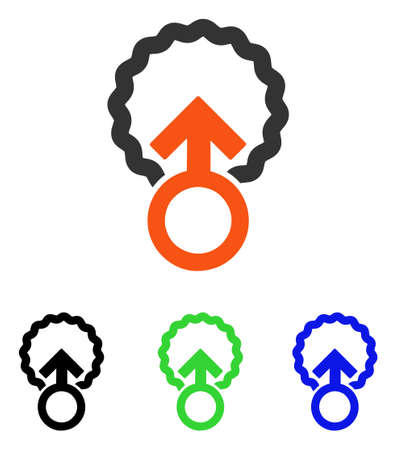 Ovum Penetration vector pictogram. Illustration style is a flat iconic colored symbol with different color versions.