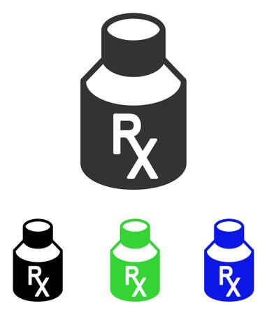 Receipt Vial vector icon. Illustration style is a flat iconic colored symbol with different color versions. Illustration