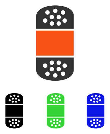 Gips vector pictogram. Illustratiestijl is een plat iconisch gekleurd symbool met verschillende kleurenversies. Stock Illustratie