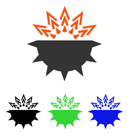Viral Structure vector icon. Illustration style is a flat iconic colored symbol with different color versions.