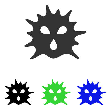 Virus Structure vector icon. Illustration style is a flat iconic colored symbol with different color versions. Illustration
