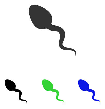 Zoosperm vector icon. Illustration style is a flat iconic colored symbol with different color versions.