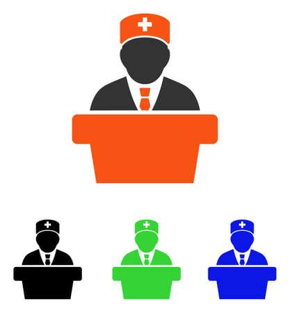 Health Care Offizielles Vektor-Piktogramm. Illustrationsart ist ein flaches ikonenhaftes farbiges Symbol mit verschiedenen Farbversionen.