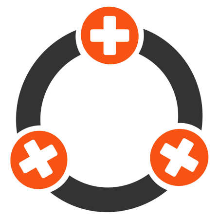 Medical Collaboration vector pictogram. Style is flat graphic symbol. Illustration