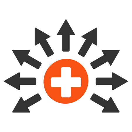 Medical Distribution vector icon. Style is flat graphic symbol. Illustration