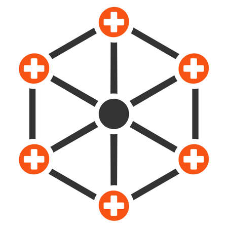 Medical Network vector pictogram. Style is flat graphic symbol.