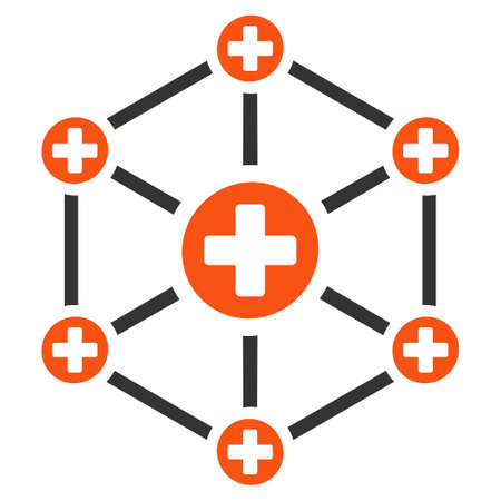 Medical Network vector icon. Style is flat graphic symbol.
