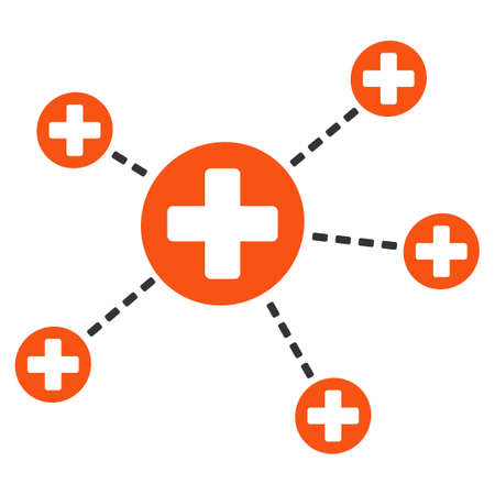 Medical Relations vector icon in flat style graphic symbol.
