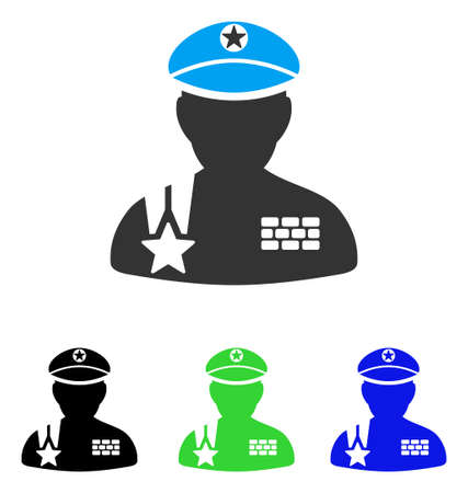 general: Army General vector pictograph. Style is flat graphic army general symbol using some color variants.