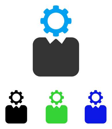 bureaucrat: Bureaucrat vector icon. Style is flat graphic bureaucrat symbol using some color variants.