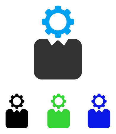 Bureaucrat vector icon. Style is flat graphic bureaucrat symbol using some color variants.