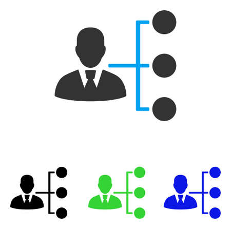 Distribution Manager vector icon. Style is flat graphic distribution manager symbol using some color variants.