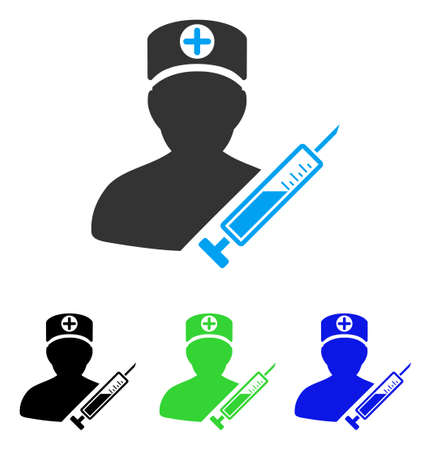 practitioner: Medic vector pictograph. Style is flat graphic medic symbol using some color variants. Illustration