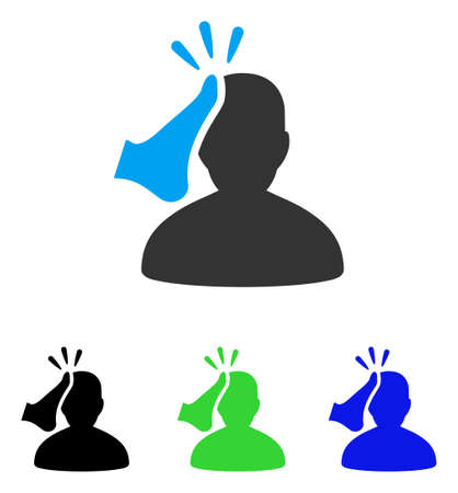 knocking: Kickboxer vector pictogram. Style is flat graphic kickboxer symbol using some color variants. Illustration